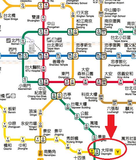 台北の地図
