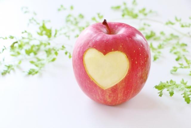 リンゴとハート